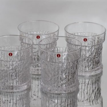 Iittala Kaarna lasit, 22 cl, 4 kpl, suunnittelija Timo Sarpaneva, 22 cl