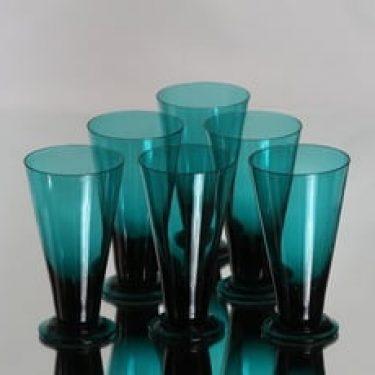 Riihimäen lasi T/335 lasit, 12 cl, 6 kpl, suunnittelija Nanny Still, 12 cl