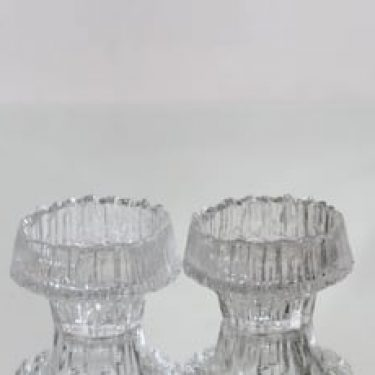 Iittala Stellaria kynttilälyhdyt, kirkas, 2 kpl, suunnittelija Tapio Wirkkala,