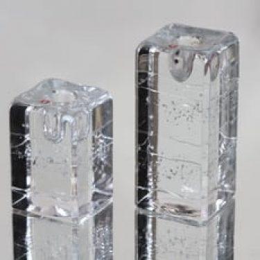 Iittala Arkipelago kynttilänjalat, eri kokoja, 2 kpl, suunnittelija Timo Sarpaneva, eri kokoja