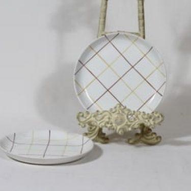 Arabia Verkko lautaset, pieni, 2 kpl, suunnittelija Raija Uosikkinen, pieni, käsinmaalattu