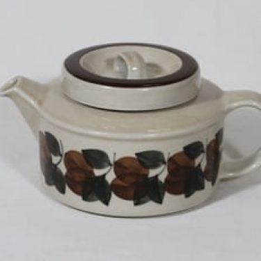 Arabia Ruija teekaadin, 1.35 l, suunnittelija Ulla Procope, 1.35 l, käsinmaalattu, retro