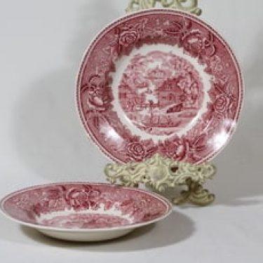 Arabia Maisema lautaset, syvä, 2 kpl, suunnittelija , syvä, kuparipainokoriste