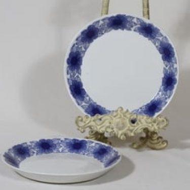 Arabia Malva lautaset, sininen, 2 kpl, suunnittelija Esteri Tomula, pieni, serikuva