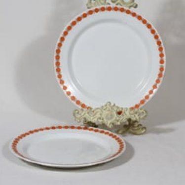Arabia lautaset, kukkakuvio, 2 kpl, suunnittelija , kukkakuvio, serikuva, retro, matala