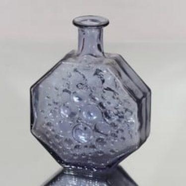 Riihimäen lasi Stella Polaris koristepullo, neodymi, suunnittelija Nanny Still,