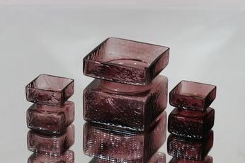 Riihimäen lasi Pala maljakot, eri kokoja, 3 kpl, suunnittelija Helena Tynell, eri kokoja