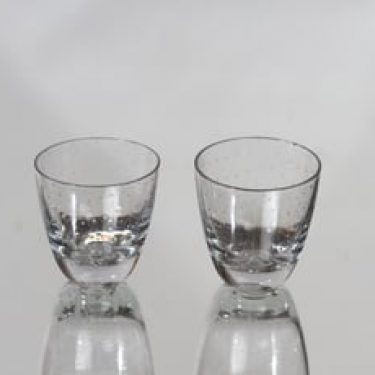 Nuutajärvi Pore lasit, kirkas, 2 kpl, suunnittelija Gunnel Nyman, pieni