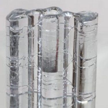 Iittala Arkipelago veistos/kynttilänjalka, kirkas, suunnittelija Timo Sarpaneva, suuri, massiivinen