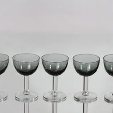 Nuutajärvi 1125 lasit, 8 cl, 5 kpl, suunnittelija Saara Hopea, 8 cl