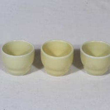 Arabia Kilta munakupit, keltainen, 3 kpl, suunnittelija Kaj Franck,