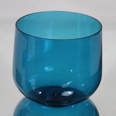 Riihimäen lasi Harlekiini salaattikulho, sininen, suunnittelija Nanny Still,