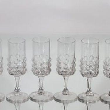 Riihimäen lasi Grappo väkeväviinilasit, 5 cl, 6 kpl, suunnittelija Nanny Still, 5 cl, jalallinen