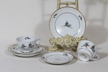 Arabia Tuulikki kahvikupit ja lautaset, 2 kpl, suunnittelija , painokoriste