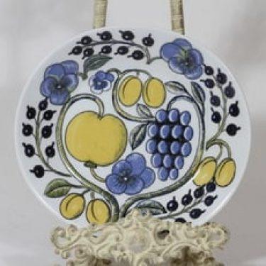 Arabia Paratiisi lautanen, käsinmaalattu, suunnittelija Birger Kaipiainen, käsinmaalattu, prototyyppi, retro