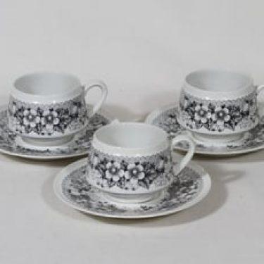 Arabia Talvikki kahvikupit, 3 kpl, suunnittelija , kuparipainokoriste