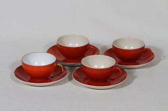 Arabia Punahilkka mokkakupit, punainen, 4 kpl, suunnittelija ,