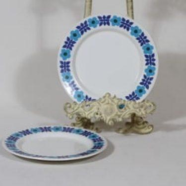 Arabia Ahmet lautaset, 2 kpl, suunnittelija Raija Uosikkinen, pieni, serikuva, retro