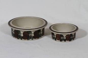 Arabia Ruija kulhot, käsinmaalattu, 2 kpl, suunnittelija Ulla Procope, käsinmaalattu, eri kokoja