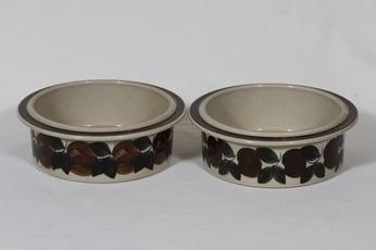 Arabia Ruija kulhot, käsinmaalattu, 2 kpl, suunnittelija Ulla Procope, käsinmaalattu