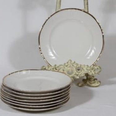 Arabia Kultakoriste leivoslautaset, 8 kpl, suunnittelija , raitakoriste