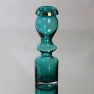 Riihimäen lasi Pompadour maljakko, turkoosi, suunnittelija Nanny Still,