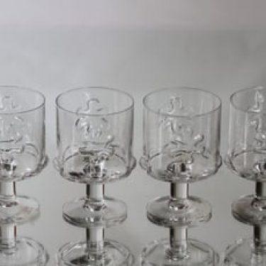 Riihimäen lasi Kasperi viinilasit, 20+ cl, 4 kpl, suunnittelija Erkkitapio Siiroinen, 20+ cl