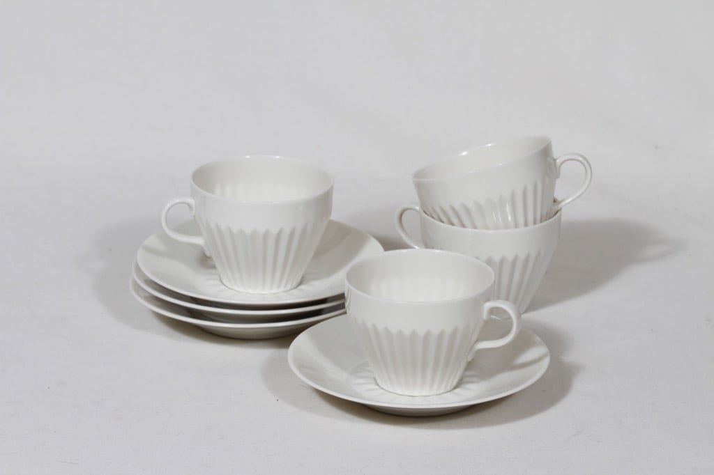 Arabia LG coffee cups, white, 4 pcs, natural