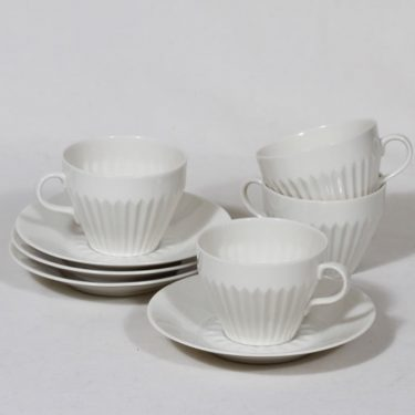 Arabia LG coffee cups, white, 4 pcs, natural