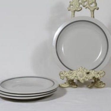 Arabia Airisto lautaset, 4 kpl, suunnittelija Inkeri Leivo, raitakoriste