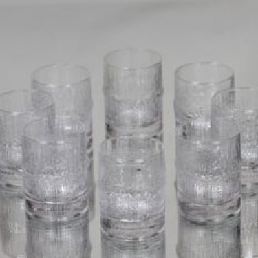 Iittala Niva lasit, 7 cl, 8 kpl, suunnittelija Tapio Wirkkala, 7 cl, pieni