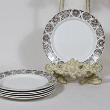 Arabia Kekri lautaset, pieni, 6 kpl, suunnittelija Raija Uosikkinen, pieni, kuparipainokoriste