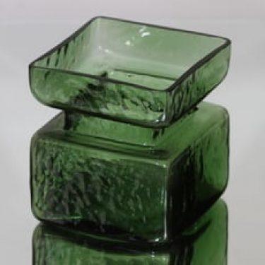Riihimäen lasi Pala maljakko, vihreä, suunnittelija Helena Tynell,