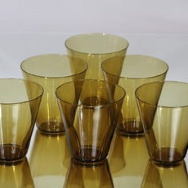 Nuutajärvi Kartio lasit, 20 cl, 6 kpl, suunnittelija Kaj Franck, 20 cl