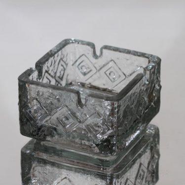 Riihimäen lasi 5634 tuhka-astia, kirkas, suunnittelija Tamara Aladin,