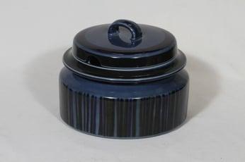Arabia Kosmos liemikulho, sininen, suunnittelija Gunvor Olin-Grönqvist, puhalluskoriste, retro