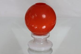 Kumela kynttilälyhty, oranssi, suunnittelija Sirkku Kumela-Lehtonen, retro