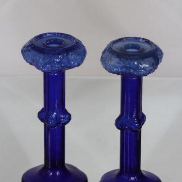 Kumela kynttilänjalat, sininen, 2 kpl, suunnittelija Kaj Blomqvist,