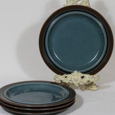 Arabia Meri lautaset, matala, 4 kpl, suunnittelija Ulla Procope, matala