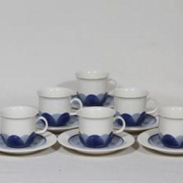 Arabia Pudas Arctica kahvikupit, sininen, 6 kpl, suunnittelija ,