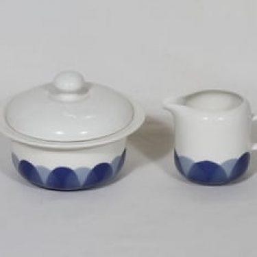 Arabia Pudas Arctica sokerikko ja kermakko, sininen, suunnittelija ,