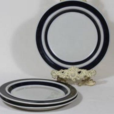 Arabia Anemone lautaset, matala, 3 kpl, suunnittelija Ulf Tikkanen, matala
