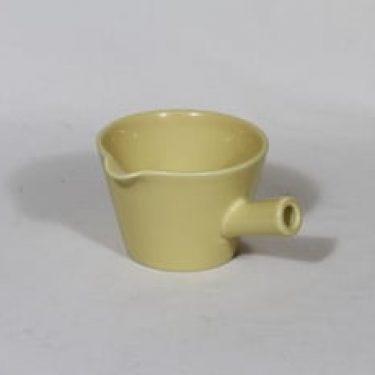Arabia Kilta kastikekaadin, keltainen lasite, suunnittelija Kaj Franck, pieni