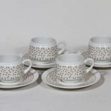 Arabia Kimmel kahvikupit, 4 kpl, suunnittelija Esteri Tomula, serikuva