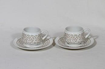 Arabia Kimmel kahvikupit, 2 kpl, suunnittelija Esteri Tomula, serikuva