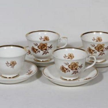 Arabia Myrna kahvikupit, 4 kpl, suunnittelija Olga Osol, serikuva