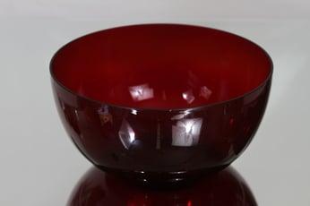 Nuutajärvi 1329 kulho, rubiininpunainen, suunnittelija Kaj Franck,