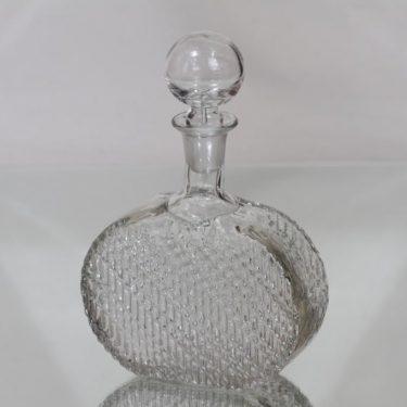 Riihimäen lasi Flindari koristepullo, 50 cl, suunnittelija Nanny Still, 50 cl, pieni