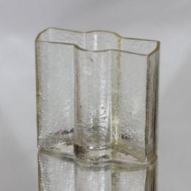 Riihimäen lasi Railo maljakko, hunaja, suunnittelija Nanny Still, pieni