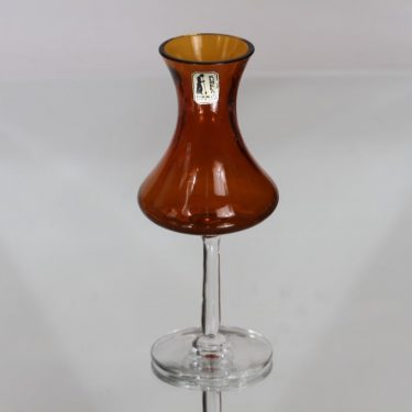 Kumela 4214 kynttilänjalka, ruskea, suunnittelija Sirkku Kumela-Lehtonen,
